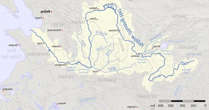 Map of Yellow River Basin region
